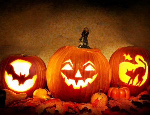Celebracion de la noche de Halloween Calabaza